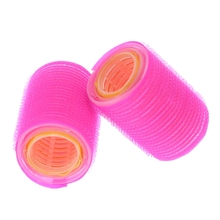 2 pcs Hairdressing Home Use DIY Magic Large Self-Adhesive Hair Rollers Styling Roller Roll Curler Beauty Tool BO