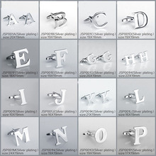 Silver-color 26 Letters Cufflinks for Mens Shirt Accessories High Quality Cufflinks Brand Retail&Wholesale SAVOYSHI Jewelry(China)