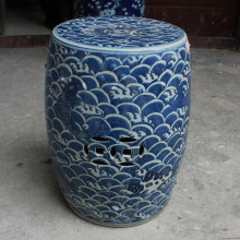 Blue And White Stool For Dressing Table Drum Stool Chinese Porcelain Garden Stool Ceramic Fish chinese art porcelain stool