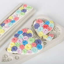 Love Buttons Silicone Mold Fondant Mould Cake Decorating Tools Chocolate Gumpaste Molds, Sugarcraft, Kitchen Accessories