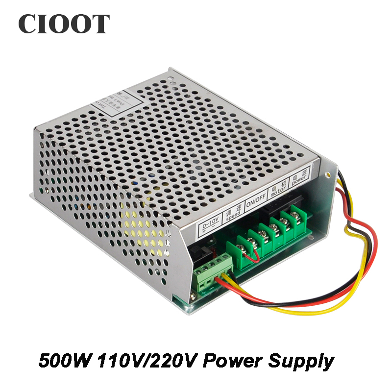 Spindle Power Supply 220V or 110V With Speed Control Mach3 CNC Adjustable Supply For Spindle Motor 500W Air Cooled Router Tools<br>