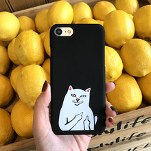 SZYHOME Phone Cases for IPhone 6 6s 7 Plus Case Fashion Luxury Pink Black Nice Word for IPhone 7 Plus Cell Phone Cover Case(China)