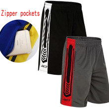 Sport Gym Basketball baggy male Short Loose Running Men's Shorts Sport shorts Men Basketball shorts with Zip pockets