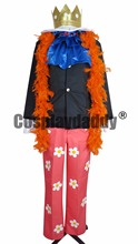 Japanese Anime Outfit One Piece Cosplay Two Years Later Brook Burukku Costume Orange Scarf H008