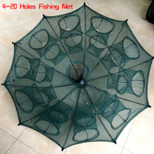Automatic Fishing Net Shrimp Cage Nylon Foldable Crab Fish Trap Cast Net Cast Folding Fishing Network4/6/8/10/12/16/20 Holes