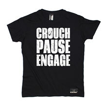 Crouch Pause Engage T-SHIRT Tee Rugbying Rugga Team Funny Birthday Gift Present Him Print T Shirt Summer Style Clothing T shirt