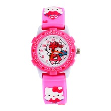 WL Waterproof Kids Watches Children hello kitty 3D cartoon Silicone Wristwatches Brand Quartz Fashion Casual Relogio watch