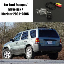 Car Rear Camera / Reverse Camera / For Ford Escape / Maverick / Mariner 2001~2006 License Plate Lamp OEM / HD CCD Night Vision