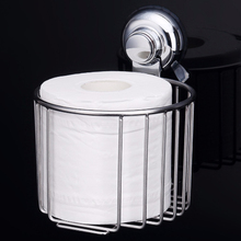 304 Stainless Steel Toilet Paper Basket Kitchen Tissue Box Super Suction Hanging Rack Roll Holder Bathroom Accessories Set(China)