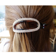 Oval Hair Claws Hair Accessories for Women Simple Hair Grip Arched Hair Clips Girls Ponytail Clamp Black/Brown HC396