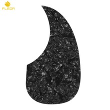 FLEOR 1pcs Celluloid Acoustic Guitar Pickguard Self-adhesive Scratch Plate Black Pearl(China)