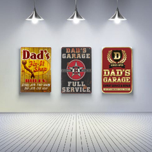 Vintage Home Decor Decorative Metal Plaques Dad's Garage Metal Signs Beer Sign Wall Art Size:20*30cm(China)