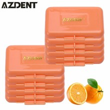 10pc AZDENT Dental Products Orange Scent For Orthodontic Braces Gum Irritation Oral Care Teeth Whitening Dental Orthodontics Wax(China)