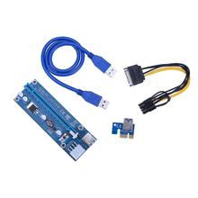 Buy USB 3.0 PCI-E Riser Express 1X 4x 8x 16x Extender Riser Adapter Card SATA 15pin Male 8Pin Power Cable mining for $4.74 in AliExpress store