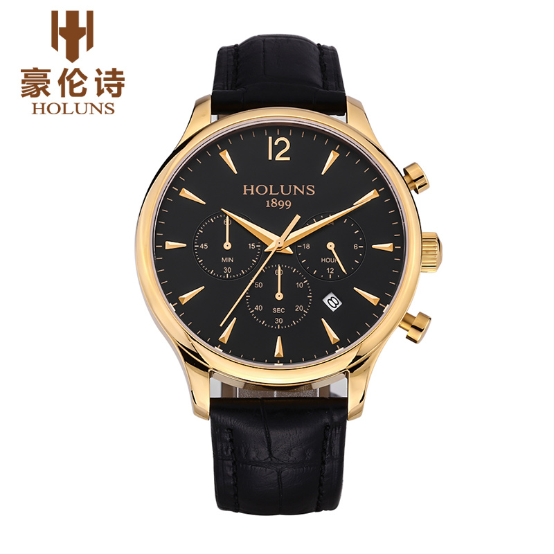 HOLUNS JY008 Watch Geneva Brand Chronograph watches mens business casual large multi needle quartz watch thin relogio masculino<br>