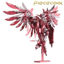 2016 Limited Edition Piececool 3D Metal Puzzle Thundering Wings Gundam P069-RS DIY 3D Metal Puzzle Kits Laser Cut Jigsaw Toys(China)