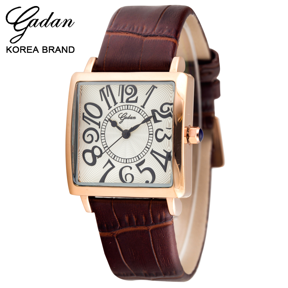 South Korea fashionable contracted leisure fashion women watch authentic quartz square watch belt ms students<br><br>Aliexpress