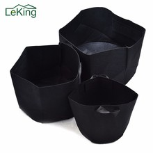 Daily 5 Size 1-10 Gallon Round Black Non-woven Fabrics Pots Plant Pouch Root Container Grow Bag Aeration Container Nursery Pots