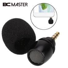BCMaster Mini Microphone Portable 3.5mm Jack Plug Mic mikrofon microfono Omni-Directional Recorder Mobile Phone Microphone(China)