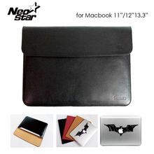 Sleeve Bag Case Notebook Cover for Macbook Air Pro Retina 11 13 PU Leather Ultrabook Laptop Tablet PC Anti-scratch + Sticker