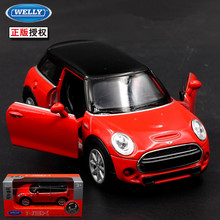 1:36 11cm new Welly delicate mini cooper HATCH car alloy vehicle model pull back cool boy birthday toy