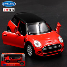1:36 11cm new Welly delicate mini cooper HATCH car alloy vehicle model pull back cool boy birthday toy(China)