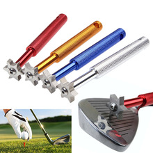 New 1Pc 6 Blade Golf Iron & Wedge Club Face Groove Tool Sharpener Cleaner For V U Square(China)