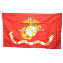 American Army USA United States Marine Corps-USMC Polyster Flag Banners 3*5 Feet With Brass Grommets(China)