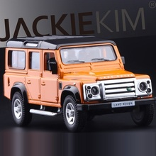 High Simulation Exquisite Diecasts&Toy Vehicles: RMZ city Car Styling Defender Off-Road SUV 1:36 Alloy Diecast SUV Model Toy Car(China)