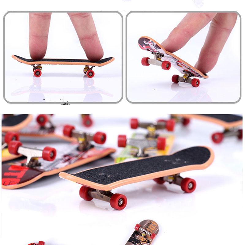 Alloy Stand FingerBoard Mini Finger de dedo Boards Scooter Skate Trucks Anti-Stress Finger Skateboard Toys Children Gifts