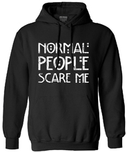 Men's sweatshirt NORMAL PEOPLE SCARE ME loose fashion long sleeve tracksuit brand clothing men autumn funny hoodies streetwear