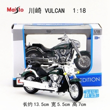 Gift for baby 1pc 1:18 13.5cm Maisto KAWASAKI VULCAN 200 racing motorcycle collection delicacy plastic alloy model boy toy