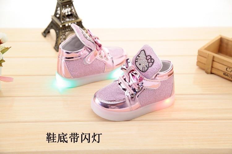 KT Chats Enfant Lumineux Sneakers 2018 avec lumière 6