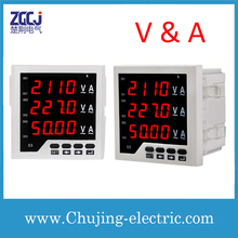 Free shipping !!! digital voltage current meter 3 phase voltage and current meter voltage current volt ampere meter digital