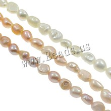 Free Shipping DIY Necklace Bracelat Jewelry Making 9-10mm Freeform Shape Natural Lilac Freshwater Pearl Loose Beads(China)