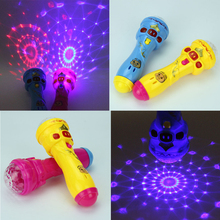 HOT LED Flashing Karaoke Singing Microphone Pig Toy Sky stars Projection Ball Light Kids Magic stick Funny Gift for Children