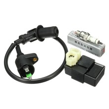 Ignition Coil + AC CDI Box + For Spark Plug For GY6 50cc 125cc 150cc Scooter ATV