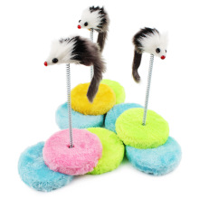 New Creative and Funny Cat Product Round Cat Toys False Mouse Kitten Climbing Frame Cat Scratcher Free Shipping