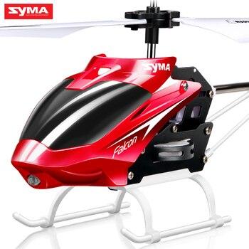 Syma 2 Canales Indoor Pequeño Tamaño RC Helicóptero con Giroscopio, Drone resistente Clase Kid Juguetes para Principiantes de Regalo de Navidad para Niños