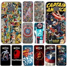The Avengers Marvel Flash Captain America Case for Samsung Galaxy A3 A5 J3 J5 J7 2015 2016 2017 & Grand Prime Note 5 4 3 2 Cover