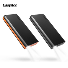 26000mAh Powerbank,Easyacc 26000mah 4 Ports USB 18650 External Battery Charger with Flashlights Fast speed Power banks(China)
