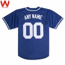 Custom Made Men/Women/Youth Embroidered Logos&Name&Number High Quality Baseball Jerseys Color Royal Blue White