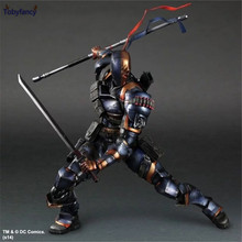 Tobyfancy Deathstroke Action Figure Batman Play Arts Kai PVC Toys 270mm Anime Model Bat Man Deadpool Playarts Kai Deathstroke(China)