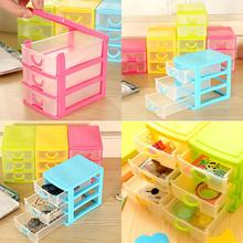 3 Layer Plastic Drawer Mini Desk Draw Storage Box Office Organiser Jewellery Necklace Earring Ring Craft Box
