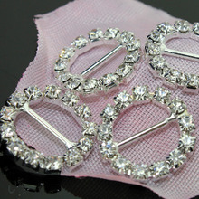 30/lots Round Rhinestone buckle, hair jewelry wedding decoration+free shipping,best service for custom,reasonable price(China)