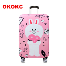 OKOKC Cartoon Rabbit Thickest Suitcase Cover for Trunk Case for 18''-32'' Suitcase Elastic Luggage Cover Travel Accessories(China)