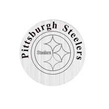 20 Pcs 316L Stainless Steel Plate Pittsburgh Steelers Locket Plate Fit For 30mm Living Floating Glass Memory Locket(China)