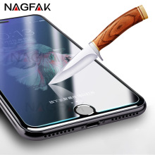 NAGFAK Anti Shatter 9H Tempered Glass For iPhone 7 6 6s Plus 5 5s 4 Screen Protector For Samsung Galaxy S7 S6 S5 S4 Glass Film(China)