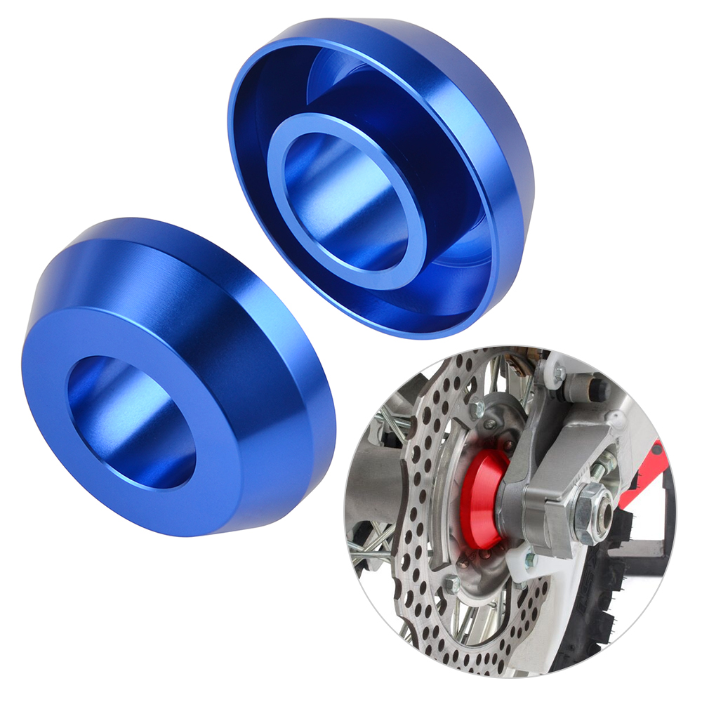 AXLE BLOCKS YAMAHA YZF 250 450 2012 2013 2014 2015 2016 2017 2018 2019 2020 BLUE