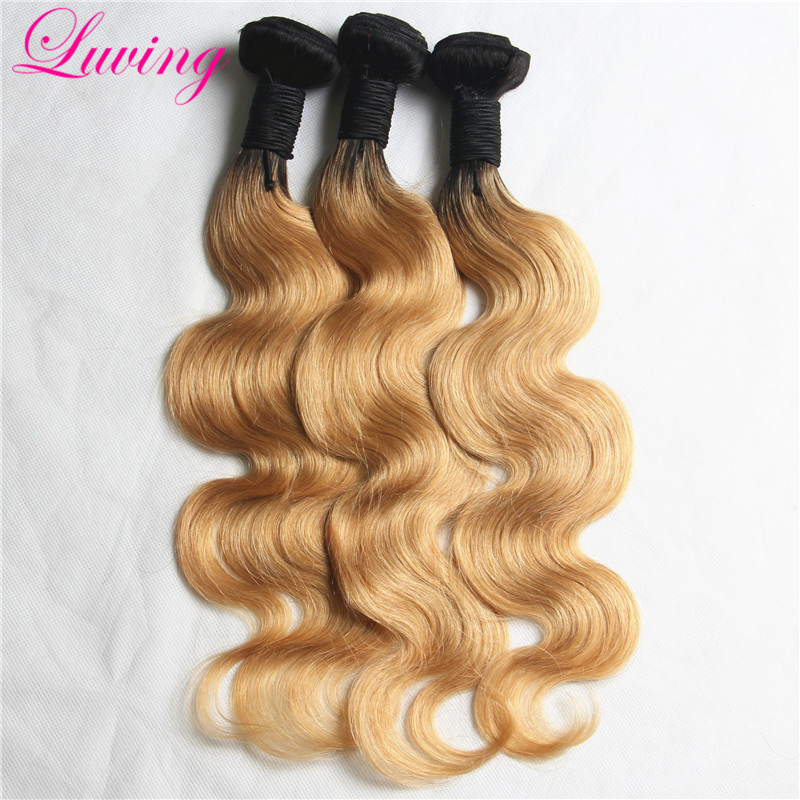 7A 1B/27 Peruvian Ombre Hair Soft Blonde Peruvian Virgin Hair Body Wave High Quality Ombre Hair Extensions 3 Bundle 2 Tone Color<br><br>Aliexpress
